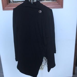 Bobeau black wrap sweater